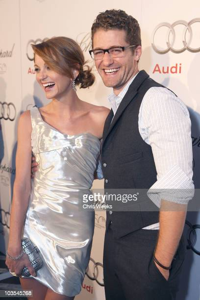 Actors Jayma Mays and Matthew Morrison attend Audi Celebrates the 2010 Emmy Awards at Cecconi's Restaurant on August 22 2010 in Los Angeles California