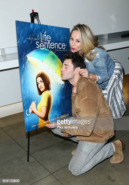 Actors Jayson Blair and Alyshia Ochse attend the screening for the CW's Life Sentence at The Downtown Independent on March 7 2018 in Los Angeles...