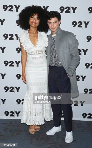 Actors Jaz Sinclair and Gavin Leatherwood attend a conversation for Netflix's Chilling Adventures Of Sabrina at the 92nd Street Y on April 04 2019 in...