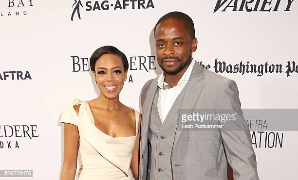 Actors Jazmyn Simon and Dule Hill attend A Celebration of Journalism Party 2016 White House Correspondents' Association Dinner on April 29 2016 in...