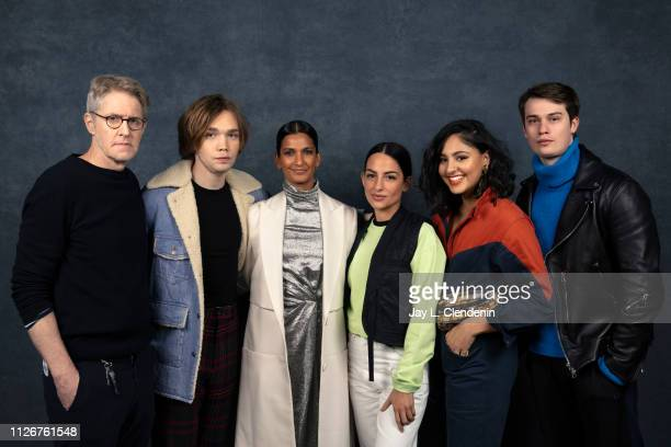 Actors JC Mackenzie Charlie Plummer Poorna Jagannanthan director/writer Pippa Bianco Rhianne Barreto and Nick Galitzine from 'Share' are photographed...