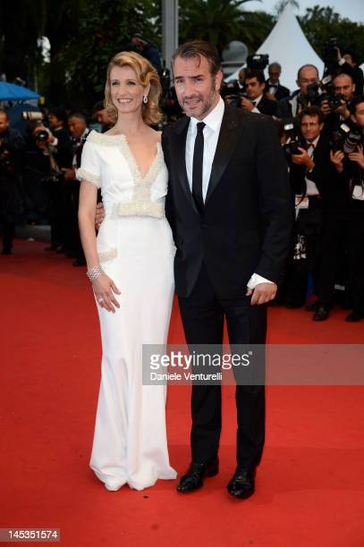 Actors Jean Dujardin and wife Alexandra Lamy attend the Closing Ceremony Therese Desqueyroux Premiere during the 65th Annual Cannes Film Festival at...