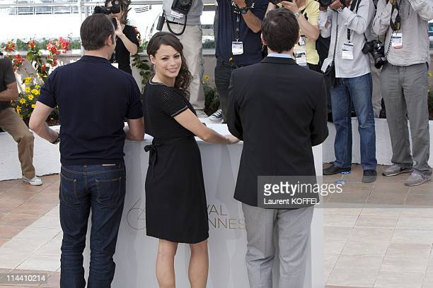 Actors Jean Dujardin Berenice Bejo and director Michel Hazanavicius attend 'The Artist' Photocall at the Palais des Festivals during the 64th Cannes...