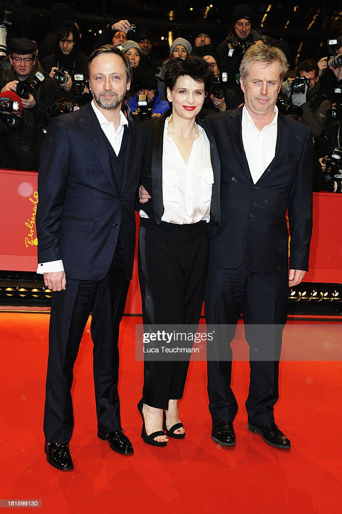 Actors Jean Luc Vincent, Juliette Binoche and director Bruno Dumont attend the 'Camille Claudel 1915' Premiere during the 63rd Berlinale International Film Festival at Berlinale Palast on February 12, 2013 in Berlin, Germany.