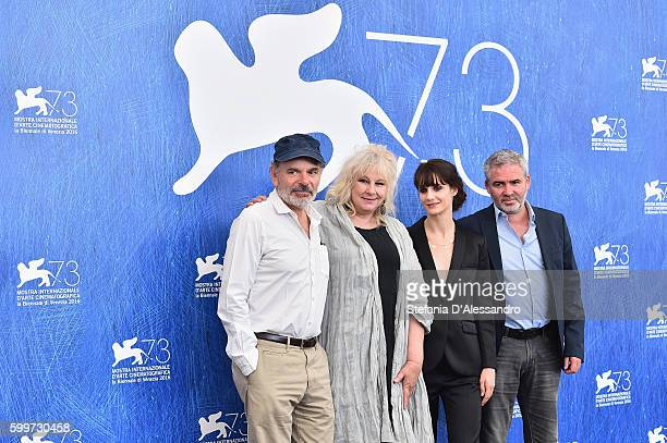 Actors Jean Pierre Darroussin Yolande Moreau Judith Chemla and director Stephane Brize attend a photocall for 'A Women's Life' during the 73rd Venice...