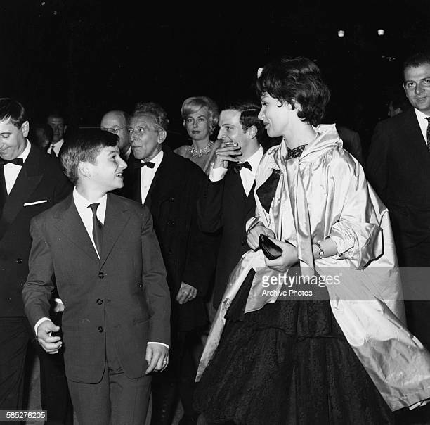 Actors Jean Pierre Leaud Jean Cocteau Francois Truffaut and Claire Maurier at the Cannes Film Festival May 9th 1959