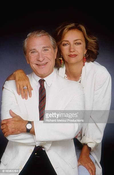 Actors Jean Poiret and Caroline Cellier