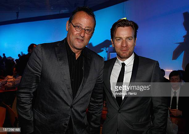 Actors Jean Reno and Ewan McGregor attend the IWC Schaffhausen Top Gun Gala Event during the 22nd SIHH High Jewellery Fair at the Palexpo Exhibition...