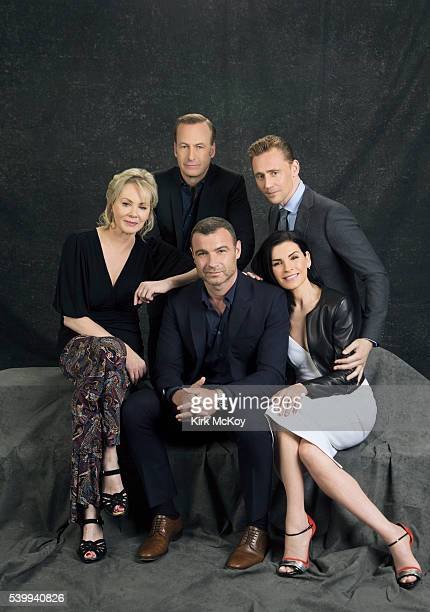 Actors Jean Smart Julianna Margulies Liev Schreiber Bob Odenkirk and Tom Hiddleston are photographed for Los Angeles Times on April 25 2016 in Los...