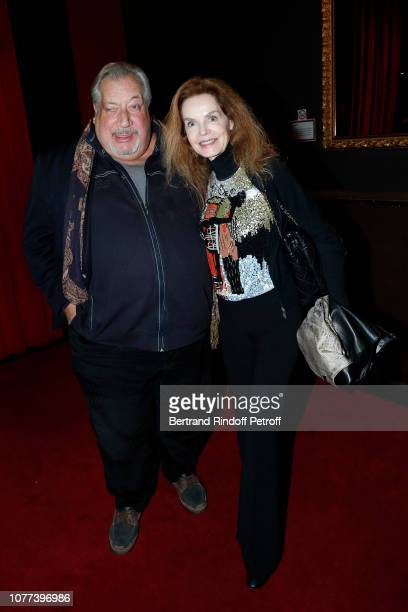 Actors JeanClaude Dreyfus and Cyrielle Clair attend the Alex Lutz's concert with the Group of singer Guy Jamet which he played in the movie Guy at...