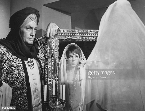 Actors JeanClaude Pascal and Michele Mercier in a scene from the film 'Untamable Angelique' 1967