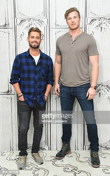 Actors JeanLuc Bilodeau and Derek Theler attend the BUILD Series to discuss their show Baby Daddy at AOL HQ on August 31 2016 in New York City