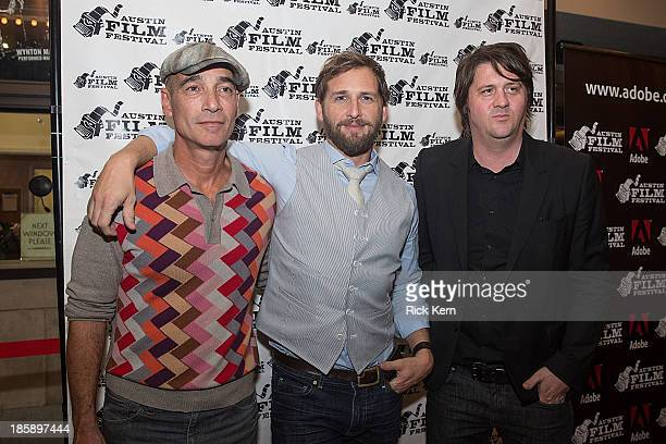 Actors JeanMarc Barr Josh Lucas and producer Orian Williams arrive at the premiere of 'Big Sur' during the Austin Film Festival at The Paramount...
