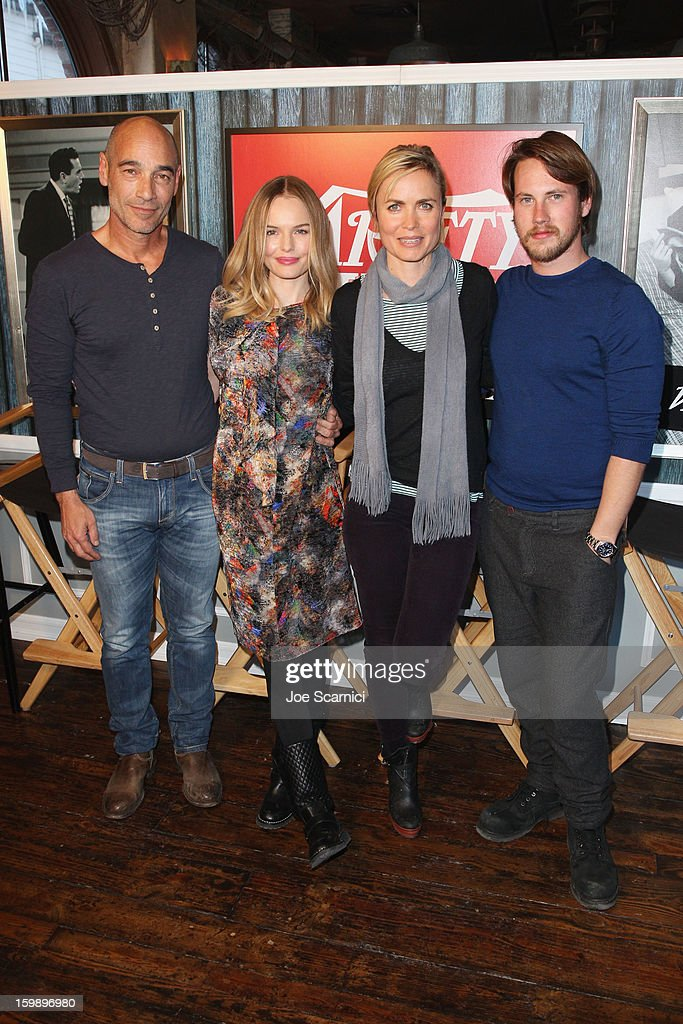 Actors Jean-Marc Barr, Kate Bosworth, Radha Mitchell and John Robinson attend Day 4 of the Variety Studio at 2013 Sundance Film Festival on January 22, 2013 in Park City, Utah.