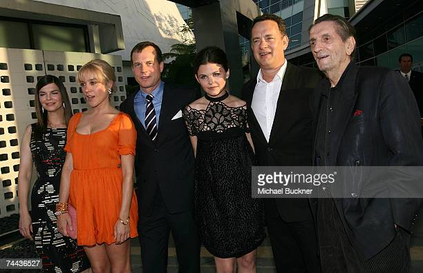 Actors Jeanne Tripplehorn Chloe Sevigny Bill Paxton Ginnifer Goodwin producer Tom Hanks and actor Harry Dean Staton arrive at the premiere of HBO's...