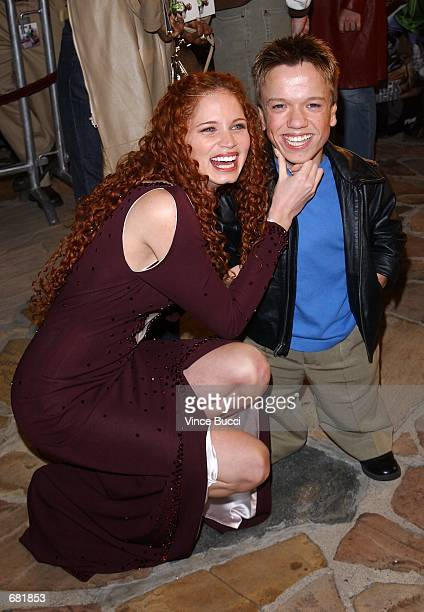 Actors Jeannette Weegar and Mikey Post attend the premiere of the film Black Knight November 15 2001 in Los Angeles CA