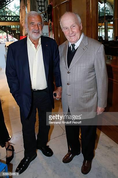 Actors JeanPaul Belmondo and Michel Bouquet attend the Concert of Patrick Bruel at Theatre Du Chatelet on June 6 2016 in Paris France