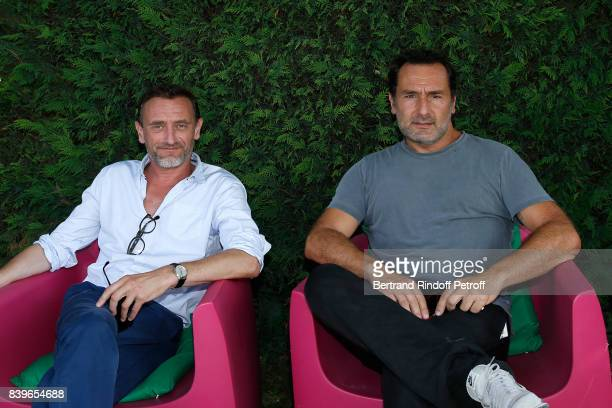 Actors JeanPaul Rouve and Gilles Lellouche attend the 10th Angouleme FrenchSpeaking Film Festival Day Five on August 26 2017 in Angouleme France