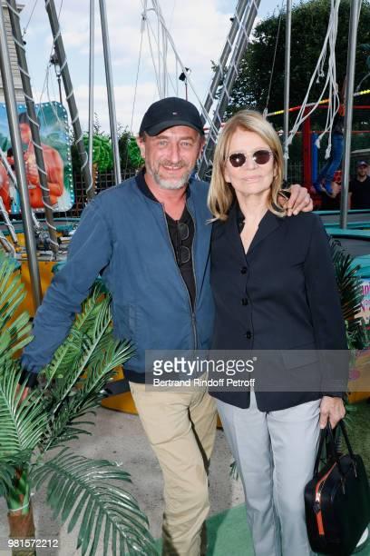 Actors JeanPaul Rouve and Nicole Garcia attend the Fete Des Tuileries on June 22 2018 in Paris France