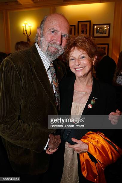 Actors JeanPierre Marielle and his wife Agathe Natanson attend 'Le Mensonge' Theater Play Held at Theatre Edouard VII on September 14 2015 in Paris...
