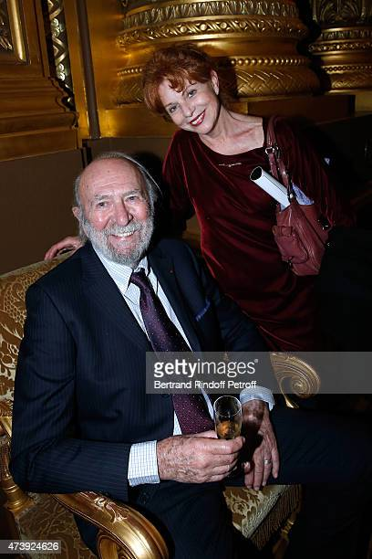 Actors JeanPierre Marielle and his wife Agathe Natanson attend Star Dancer Aurelie Dupont says goodbye to the Paris Opera performing in L'histoire de...