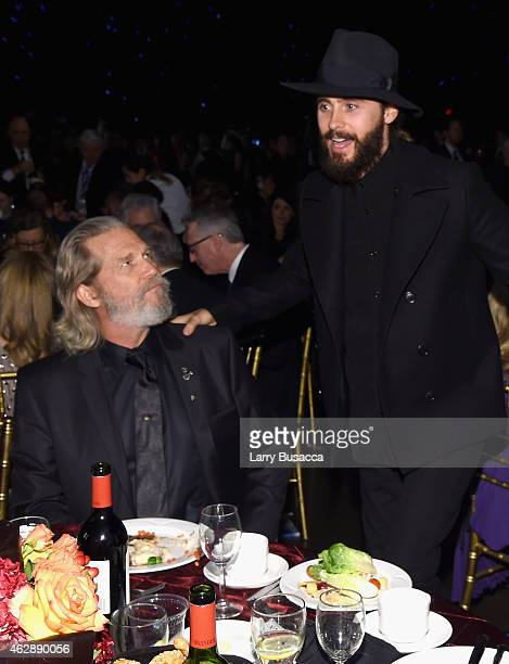 Actors Jeff Bridges and Jared Leto attend the 25th anniversary MusiCares 2015 Person Of The Year Gala honoring Bob Dylan at the Los Angeles...