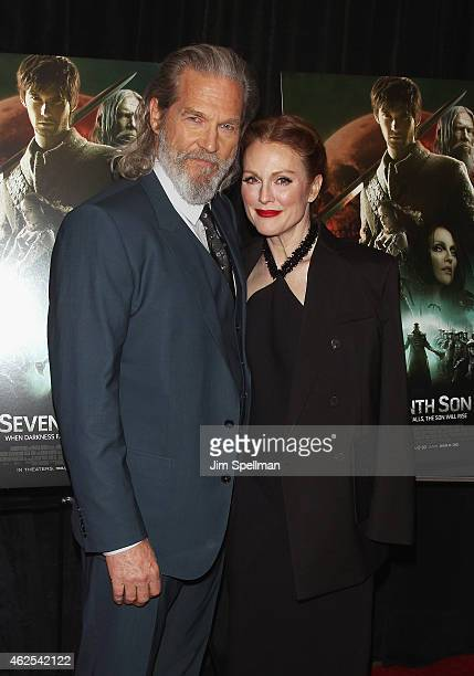Actors Jeff Bridges and Julianne Moore attend the 'Seventh Son' special screening at Crosby Street Hotel on January 30 2015 in New York City