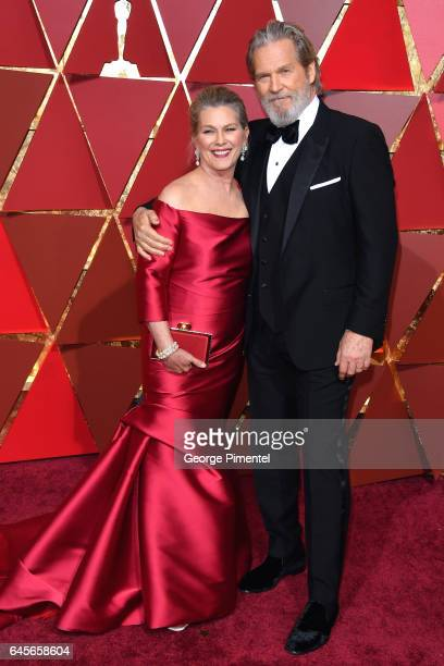 Actors Jeff Bridges and Susan Bridges attend the 89th Annual Academy Awards at Hollywood Highland Center on February 26 2017 in Hollywood California