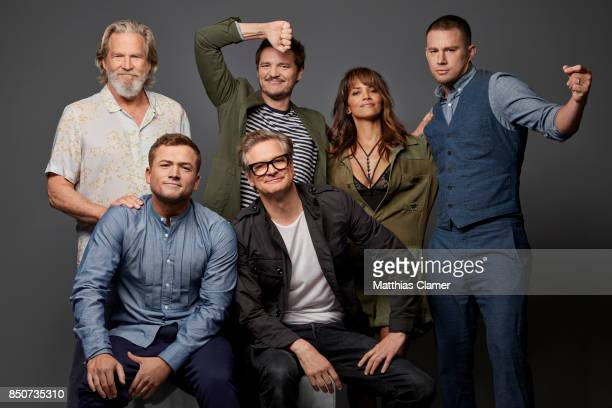 Actors Jeff Bridges Taron Egerton Pedro Pascal Colin Firth Halle Berry and Channing Tatum from Kingsman The Golden Circle are photographed for...