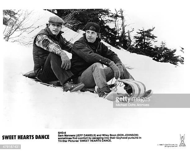 Actors Jeff Daniels and Don Johnson in a scene of the movie Sweet Hearts Dance circa 1988