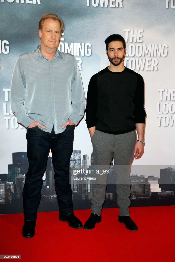 Actors Jeff Daniels and Tahar Rahim attend 'The Looming Tower' Special Screening, The New Series broadcasted on Amazon Prime Video at Hotel Royal Monceau Raffle on February 21, 2018 in Paris, France.