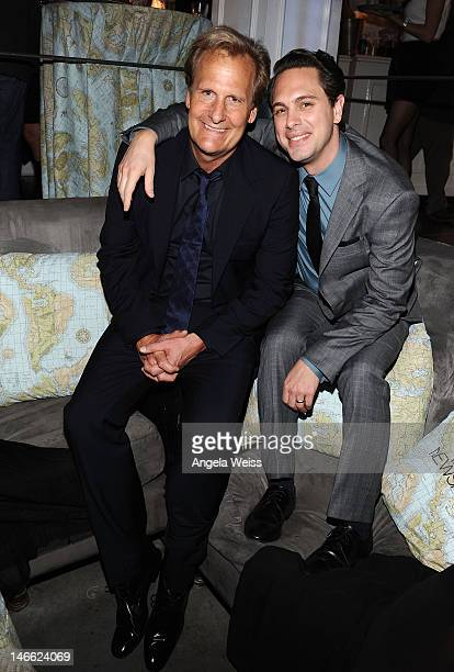 Actors Jeff Daniels and Thomas Sadoski attend the after party for HBO's New Series 'Newsroom' Los Angeles Premiere at Boulevard3 on June 20 2012 in...