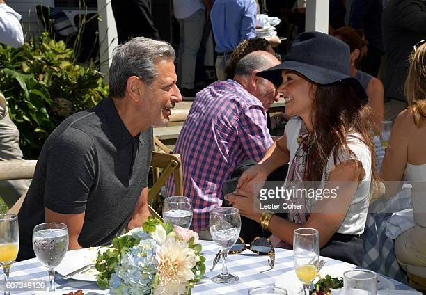 Actors Jeff Goldblum and Katie Holmes at the ICM Partners PreEmmy Brunch on September 17 2016 in Santa Monica California