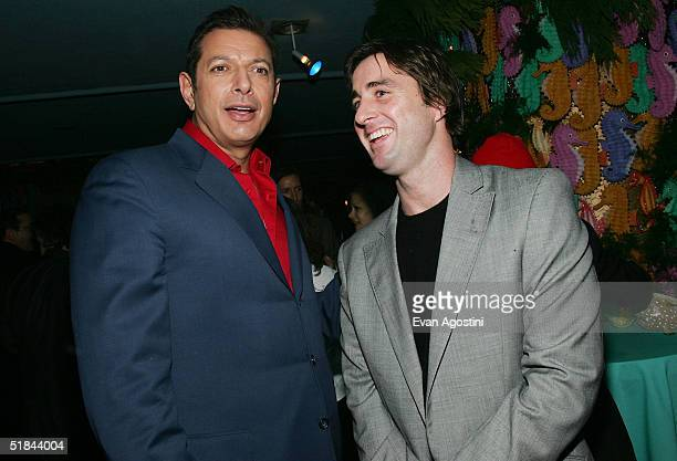 "Actors Jeff Goldblum and Luke Wilson attends ""The Life Aquatic With Steve Zissou"" premiere after party at Roseland Ballroom December 9, 2004 in New..."