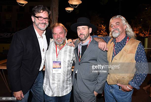 Actors Jeff Hendrick and James Anthony Cotton director James O'Brien and Billy Ginks attend the Reframed Party at the 2015 San Diego Film Festival on...