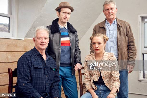 Actors Jeff Perry Denis O'Hare Chloe Sevigny and Jamey Sheridan from the film 'Lizzie' pose for a portrait in the YouTube x Getty Images Portrait...