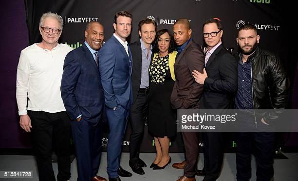 Actors Jeff Perry Joe Morton Scott Foley Tony Goldwyn executive producer Shonda Rhimes actors Cornelius Smith Jr Joshua Malina and Guillermo Diaz...