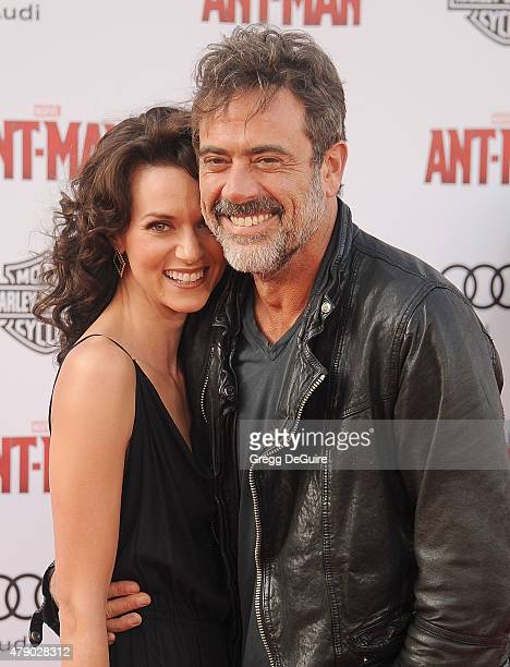 "Actors Jeffrey Dean Morgan and Hilarie Burton arrive at the premiere of Marvel Studios ""Ant-Man"" at Dolby Theatre on June 29, 2015 in Hollywood,..."