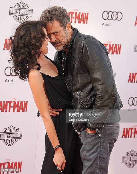 Actors Jeffrey Dean Morgan and Hilarie Burton arrive at the premiere of Marvel Studios AntMan at Dolby Theatre on June 29 2015 in Hollywood California