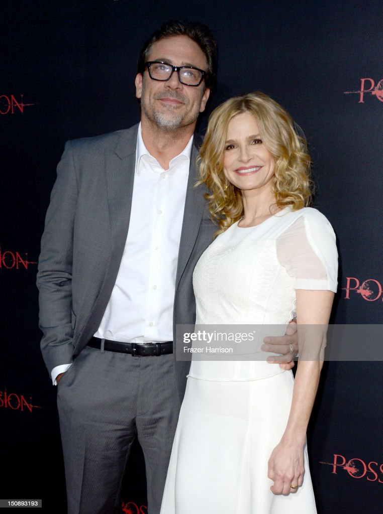 Actors Jeffrey Dean Morgan (L) and Kyra Sedgwick arrive at the premiere of Lionsgate Films' 'The Possession' at ArcLight Cinemas on August 28, 2012 in Hollywood, California.