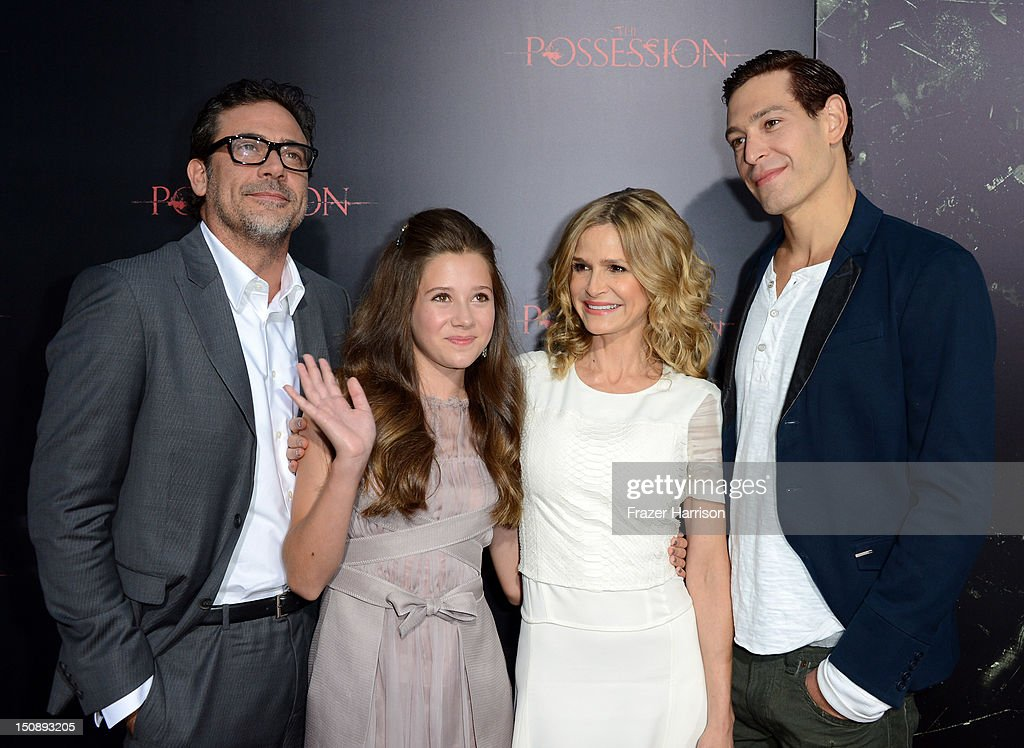 Actors Jeffrey Dean Morgan, Natasha Calis, Kyra Sedgwick, and Matisyahu arrive at the premiere of Lionsgate Films' 'The Possession' at ArcLight Cinemas on August 28, 2012 in Hollywood, California.