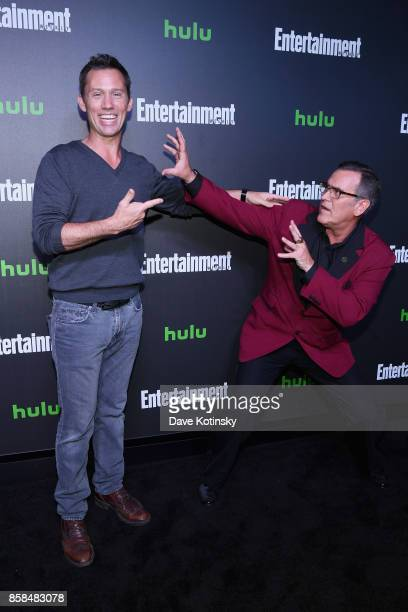 Actors Jeffrey Donovan and Bruce Campbell attend Hulu's New York Comic Con After Party at The Lobster Club on October 6 2017 in New York City