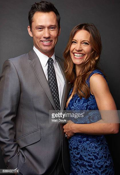 Actors Jeffrey Donovan and KaDee Strickland are photographed at the Hulu UpFront for TV Guide Magazine on May 4 2016 in New York City