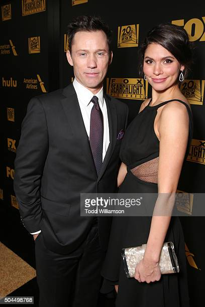 Actors Jeffrey Donovan and Michelle Woods attend FOX Golden Globe Awards Awards Party 2016 sponsored by American Airlines at The Beverly Hilton Hotel...