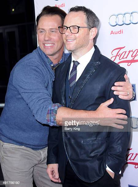 Actors Jeffrey Donovan and Noah Hawley arrive at the Premiere Of FX's 'Fargo' Season 2 at ArcLight Cinemas on October 7 2015 in Hollywood California