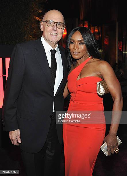 Actors Jeffrey Tambor and Angela Bassett attend The 2016 InStyle and Warner Bros 73rd annual Golden Globe Awards PostParty at The Beverly Hilton...