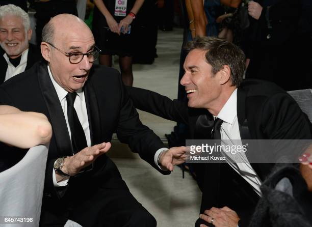 Actors Jeffrey Tambor and Eric McCormack attend the 25th Annual Elton John AIDS Foundation's Academy Awards Viewing Party at The City of West...