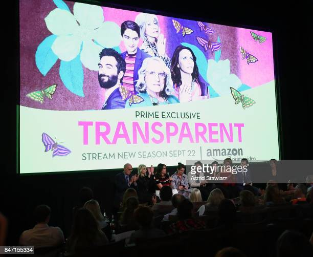 Actors Jeffrey Tambor Judith Light Amy Landecker Gaby Hoffmann Jay Duplass Trace Lysette Alexandra Billings and Rob Huebel attend a screening event...