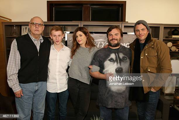 Actors Jeffrey Tambor Russell Posner Kathryn Hahn Jack Black and James Marsden attend the The Variety Studio At Sundance Presented By Dockers on...