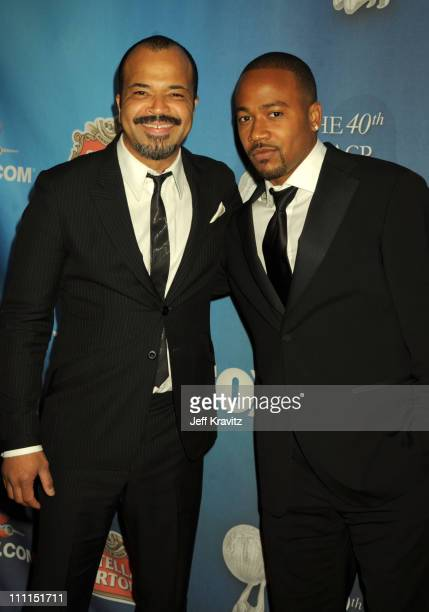 Actors Jeffrey Wright and Columbus Short attend the 40th NAACP Image Awards Post Show Gala at The Beverly Hilton on February 12 2009 in Beverly Hills...